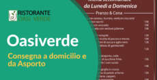 Menù consegna a Domicilio per Emergenza Covid-19 Ristorante oasi verde basiglio