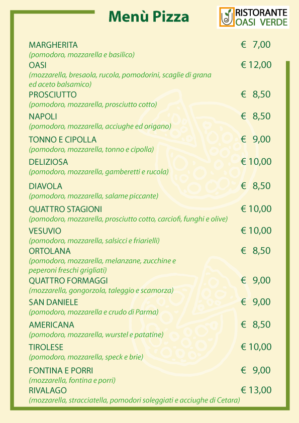 Pizze Ristorante oasi verde basiglio